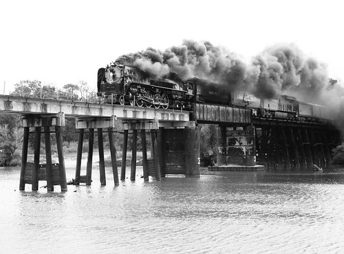 Union Pacific 844 Crosses the San Jacinto River, 11:47 am, October 26, 2012