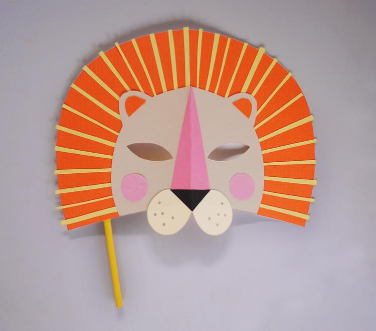 Mer mag diy paper lion mask for national geo kids for Mask craft for kids