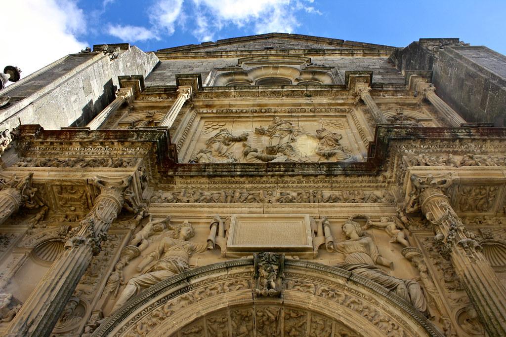 Detalle fachada principal capilla del Salvador.