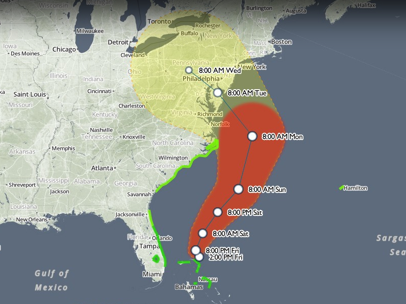 Mapping Hurricane Sandy  Points of interest