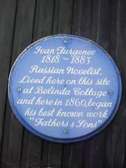 Photo of Ivan Turgenev blue plaque