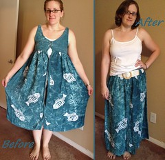 Fishy Skirt Before & After