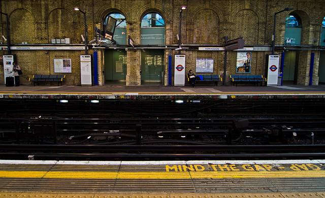 mind the gap at london underground