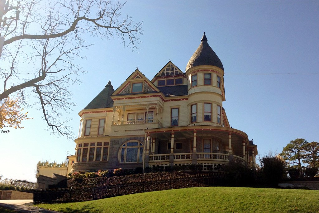 Eureka Springs AR, 27 Oct 2012.  Queen Anne Mansion.  Eureka Springs had many beautiful homes... but this was one of the best!