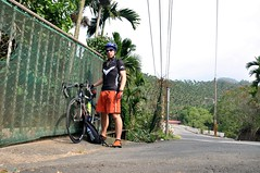 Me cycling to Sun Moon Lake