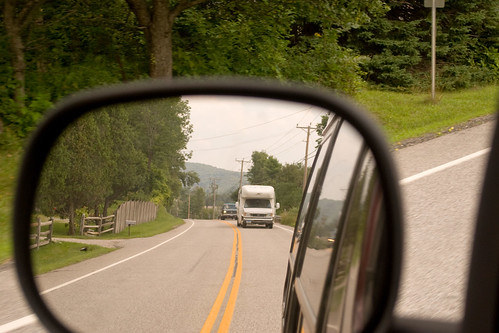camping mirror vermont driving newengland caravan sideview stateparks route100 lakebomoseen fortdummer