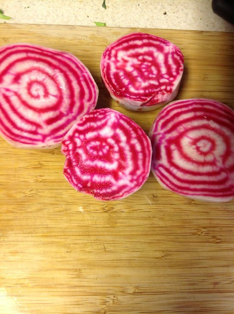 Striped Chioggia beets