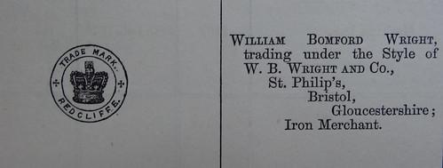 W.B. Wright Iron Merchant 28 February 1876