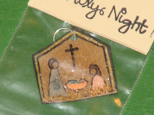 Ink Stains Altered Christmas Charm Swap 018