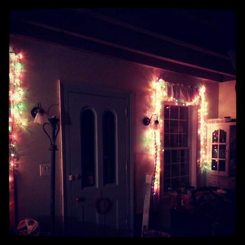 A December due date necessitates some early twinkling lights.