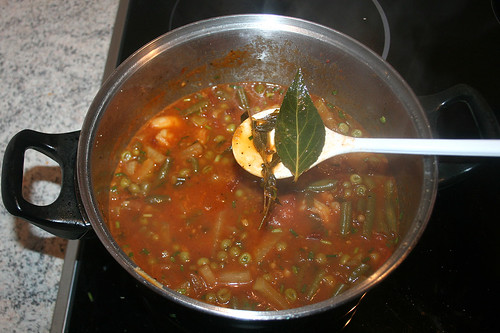 51 - Garnelen-Gemüse-Topf / Prawn vegetable stew - Lorbeerblatt & Bohnenkraut entfernen / Remove bayleaf & savory
