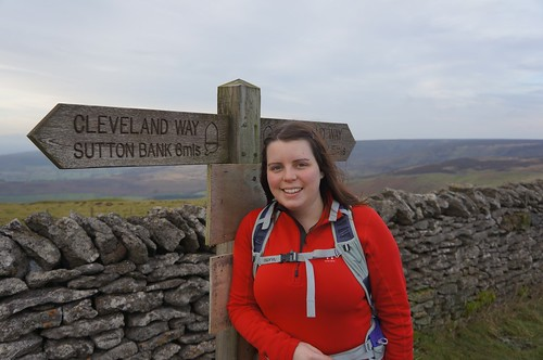 Emily enjoying the Cleveland Way, North York Moors