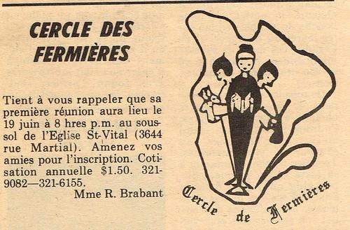 1972-04-14 - parution d'une annonce dans le journal de Montréal