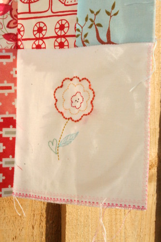 Embroidered Corner Panel