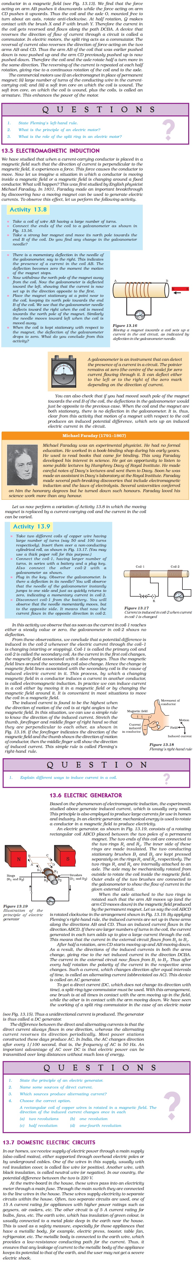 NCERT Class X Science Chapter 13 - Magnetic Effects of Electric Current