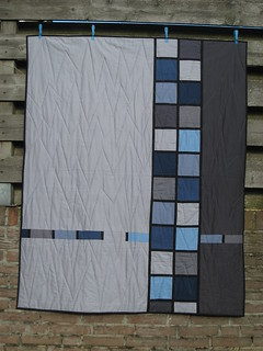 back of Stained Glass quilt