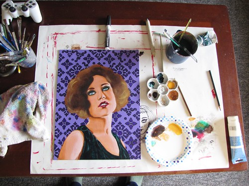 flapper painting in progress