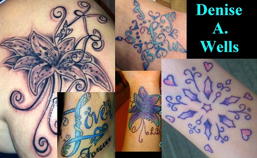 Custom Tattoo Designs by Denise A. Wells