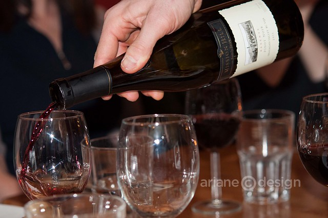 Pouring Mission Hill's 2011 Reserve Pinot Noir