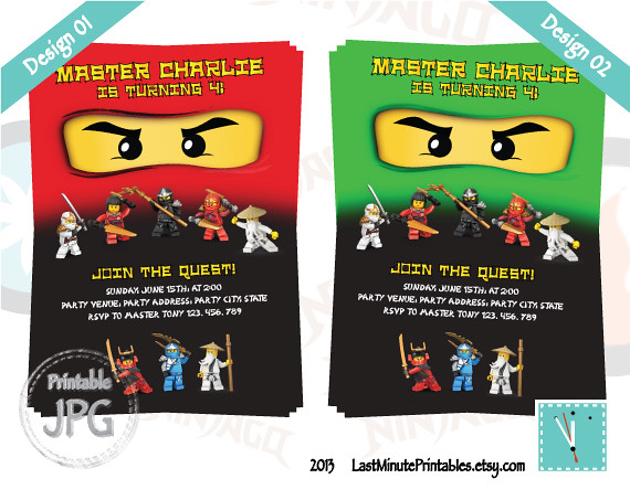 Ninjago Printables http://lastminuteprintables.wordpress.com/2013/01/24/ninjago-invitaton-01/