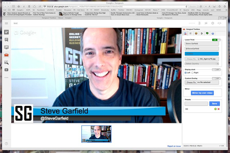 Google+ Hangouts with Lower Thirds