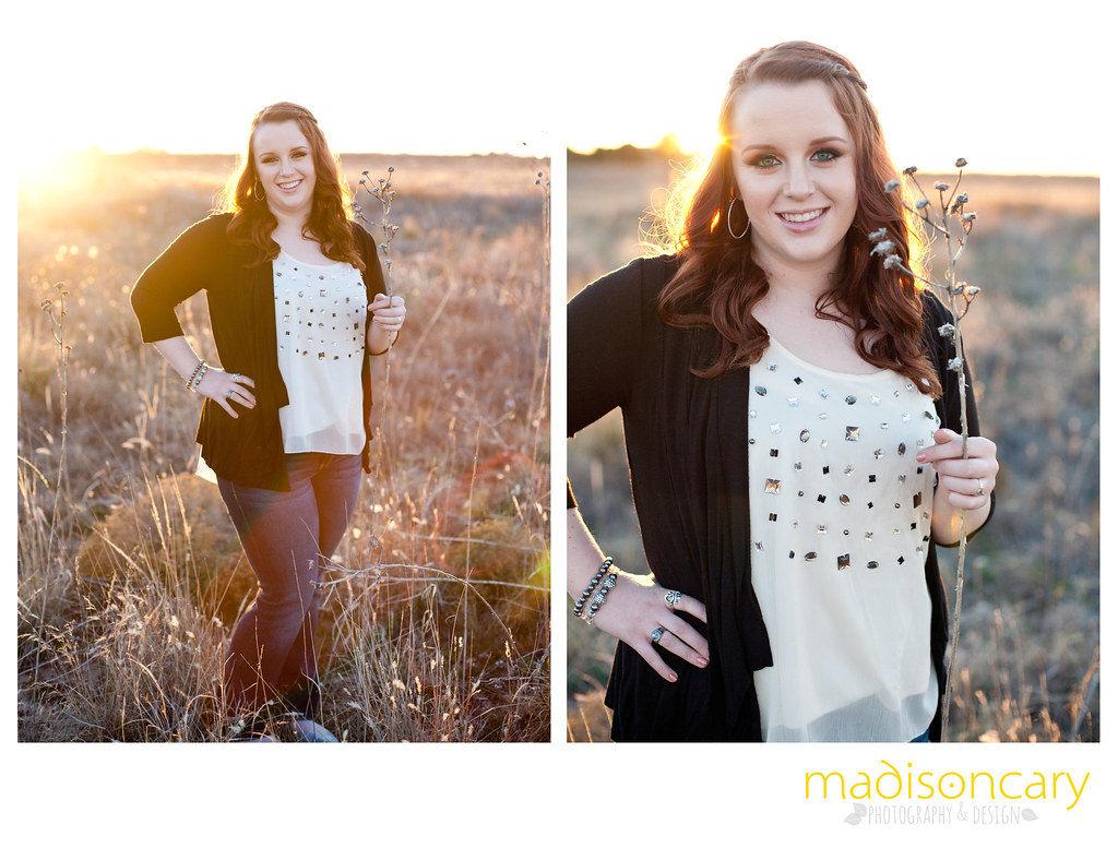 high school senior gorgeous warm sunset open field