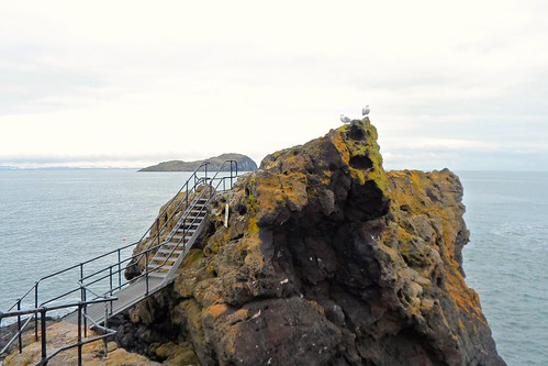 Steps along rocks in North Berwick