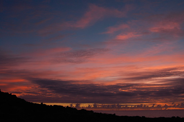 Sunset from the North Coast of Rapa Nui