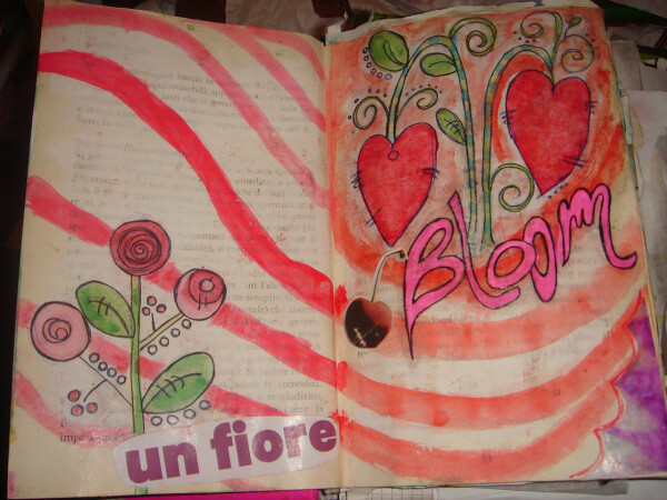 3 bloom art journal pages january 027