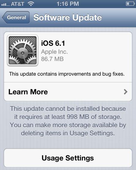 iOS 6.1 для iPad