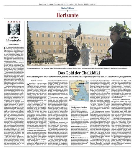 Berliner Zeitung: Das Gold der Chalkidiki