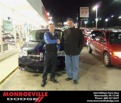 Congratulations Duwayne Dorich on the 2013 Dodge Caravan by Monroeville Dodge