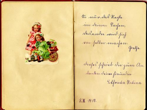 Klaras Poesiealbum 1916 Sütterlin Sütterlinschrift Zum Andenken