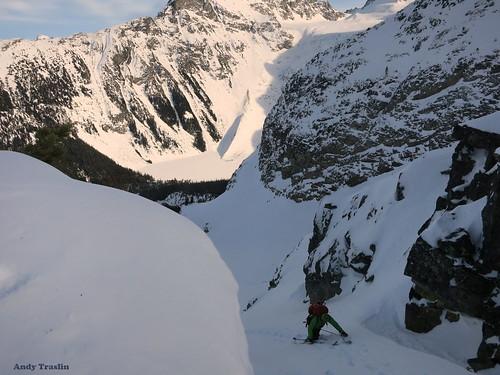 Pemberton British Columbia.... Skier Mike Traslin.... photo Andy Traslin