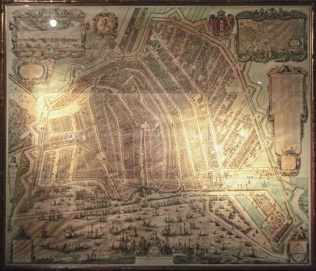 17 century map with Rembrandt House marked