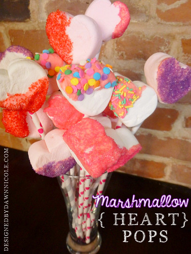 Marshmallow {Heart} Pops
