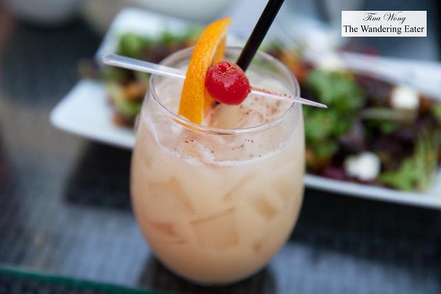 Painkiller - Plantation Dark Rum, Disoranno Amaretto, Pineapple Juice, Orange Juice, Cream of Coconut, Lemon, Freshly Grated Nutmeg