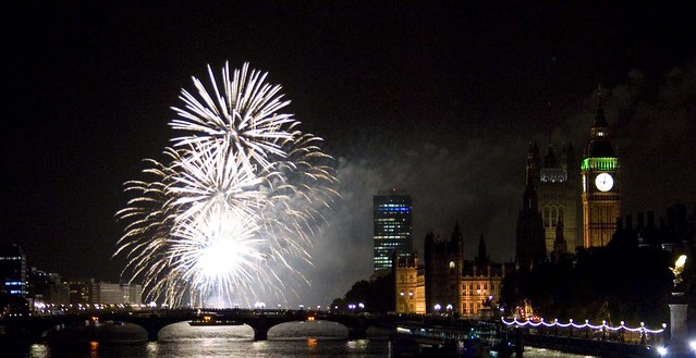 Fireworks by Westminster
