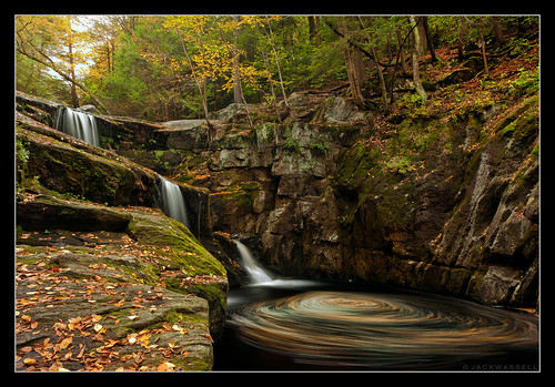 longexposure autumn fall water leaves waterfall connecticut wideangle swirl granby endersfalls jackwassell