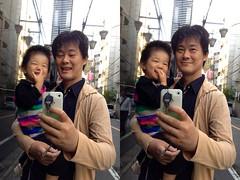 朝散歩、とらちゃんと私 (2012/10/12)