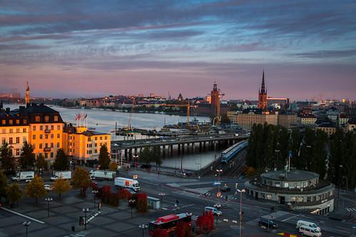 sun sunrise sweden stockholm södermalm slussen sverige katarinahissen