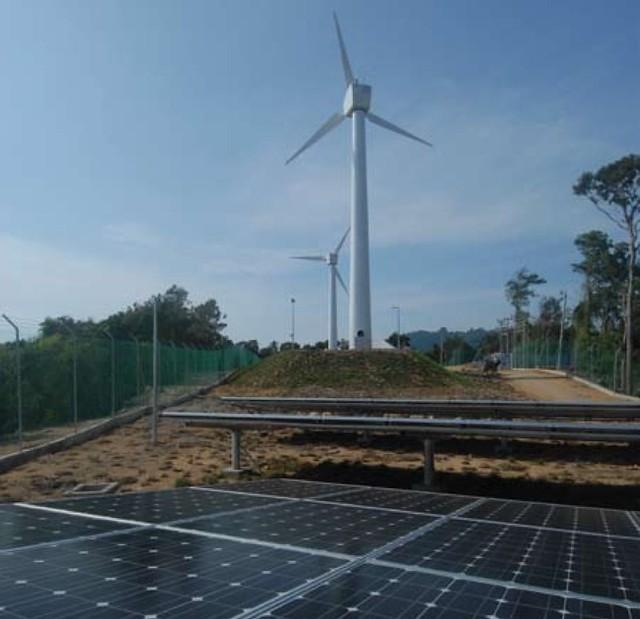 Wind solar hybrid at Pulau Perhentian Kecil