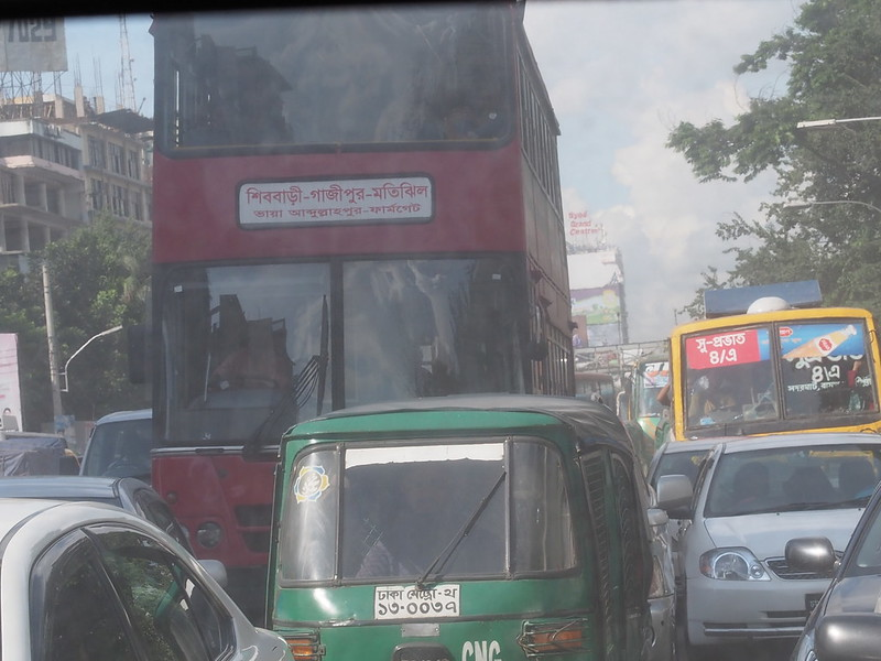 Two-story bus in Dakha