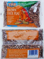 Gedroogde bruine kikkererwten (brown chickpeas)