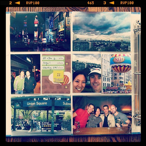 NYC #projectlife inspired album {title page, back}