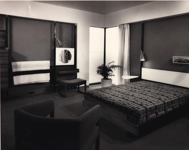 Habitat67 photo09 (intérieur chambre 1968)