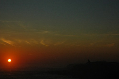 Mists at sunset over the ocean, Santa Cruz, California, USA by Wonderlane