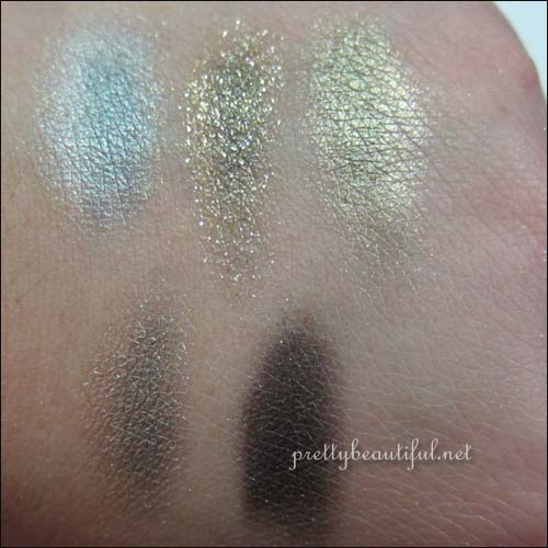 Dior Night Golds 524 Swatch with Base
