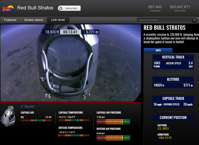 Felix Baumgartner sky dive capsule