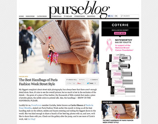 My photos featured on the PurseBlog from Paris fashion week 2012